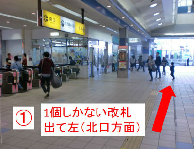 1.田無駅改札
